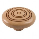 Wooden Engraved Knob 420HN